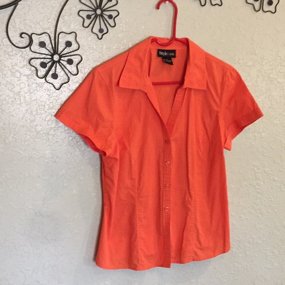 87% off Tops - Bright colored button down top from Virginia's ...